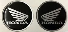 2 Adesivi HONDA 3D Nero e Argento 3D resinati Hornet CBR CBS CB NC - 5 cm
