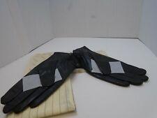 Mens Genuine Sheepskin Leather Lined cashmere Warm Gloves Warmen D1