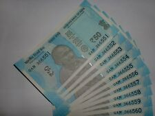 India Paper Money - 10 X Rs.50/- New 'Mg' Notes - Urjit R. Patel-2017 # E 4vii