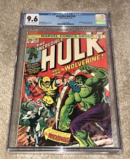 The Incredible Hulk #181 Cgc 9.6 Nm+ Ow/W 1st App Wolverine! 1557015001