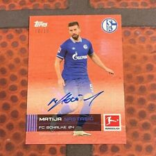 Topps Stars der Saison / Bundesliga - Matija Nastasic /10 Auto - Schalke 04 -