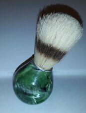 (X) Vintage Shaving Brush Green Marble Color