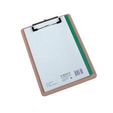 Great A5 File Paper Clip Wood Writing Board Metal Clip Document ClipboardJ&C