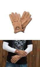 Handschuhe Men braunem Leder Vintage AL28 x Biker Biker Größe L