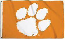 Clemson Tigers 3' x 5' Flag (Logo Only on Orange) NCAA Licensed