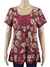 Marks and Spencer Women's Semi Fitted Floral Hip Length Tops & Shirts