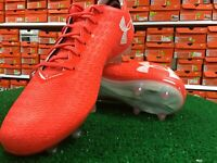 Under Armour Men/'s Clutchfit Force FG White Black Red $174 Soccer Cleats Boots