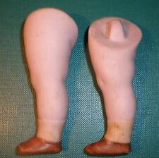 """Antiguo piernas 2.95"""" Para Casa De Muñecas Muñeca Lastic de fijación"""
