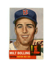 MILT BOLLING signed 1953 TOPPS baseball card #280 RED SOX Rookie