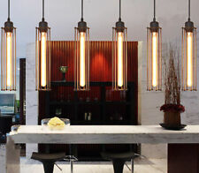 Industrial Vintage Long Cage Metal Shade Ceiling Fitting Warehouse Pendant Lamp
