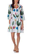 HHG floral dress abito vestito donna bianco fantasia floreale cotone S BNWT