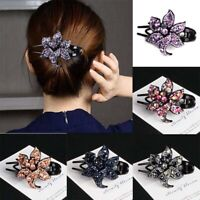 Hair Hairpin Women's Crystal Pins Grips Clips Flower Slide Accessories Comb