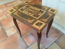 Vintage Italian Musical Wooden Table Sewing / jewellery Box Inlaid Marquetry Vgc