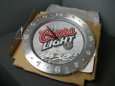 Nib Coors Light Clock - Model Coors 1069-Trimester - Plugs in - On/Off - aa ss