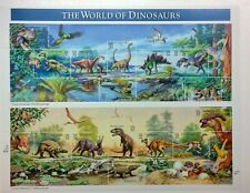 1996 The World of Dinosaurs 32 cent stamp sheet.