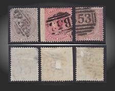 1860 1872 MAURITIUS QUEEN VICTORIA USED LOT 1P,4P 10P SCT.24 26 42 SG. 56,62,67