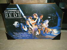 "STAR WARS ROTJ RETURN OF THE JEDI MAIN MOVIE POSTER WOOD WALL PLAQUE 13"" X 19"""