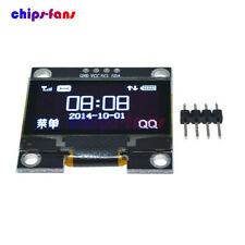 "White 1.3"" OLED LCD Display Module IIC I2C Interface 128x64 3-5V For Arduino"