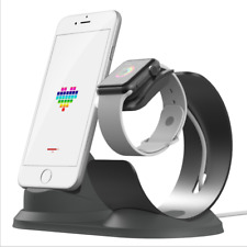 2 in 1 Aluminum Charging Dock Stand Docking Station For Apple Watch and iPhone