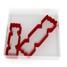 Christmas Cracker Cookie Cutter Set Of 2 Biscuit Dough Icing Shape Cake Pastry