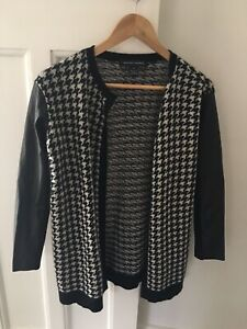 RALPH LAUREN Women's Cashmere Leather Sleeve Cardigan Jacket XS New W/o Tags