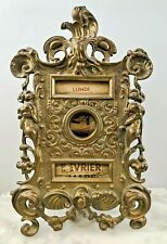 Antique French Art Nouveau Cast Bronze Brass Perpetual Calendar w/ Scroll Dials