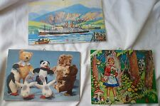 Children Room Story Colored Wood Wall Signs Red Riding Hood Bears and Ship SET 3