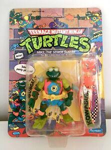 Teenage Mutant Ninja Turtles Mike the Sewer Surfer MOC Unpunched MISB BNIB TMNT