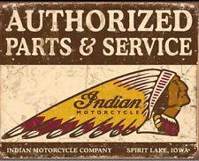 Indian Motorcycle Parts & Service Metal Tin Sign Garage Man Cave Decor #1930