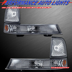 Set of Pair Euro Clear Corner Signal Lights for 1998-2000 Ford Ranger