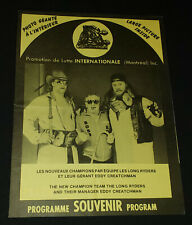 1980's - INTERNATIONAL WRESTLING - OFFICIAL PROGRAM - ORIGINAL