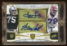 2013 TOPPS HOWIE LONG / BRUCE SMITH DUAL GOLD AUTOGRAPH /20 AUTO MINT  HOF  RARE