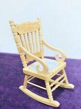 Dollhouse miniature Hand-made  Wooden Oak Rocking Chair