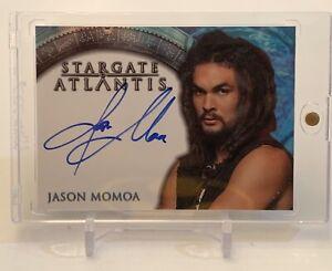 JASON MOMOA AS RONON DEX STARGATE ATLANTIS SIGNATURES AUTOGRAPH AUTO CARD