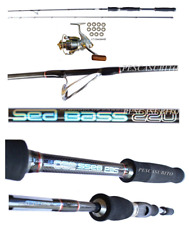 Kit Canna Sea Bass 2.20m 20/40g + Mulinello Xc Pesca Spinning Spigola Mare tp