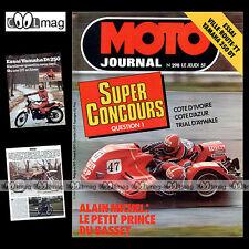 MOTO JOURNAL 298 YAMAHA DT 250 BIMOTA SUZUKI GS 750 BPS 125 ALAIN MICHEL 1977