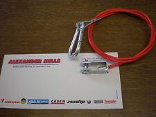 Seguridad Del Remolque Emergencia Cable de retención HORQUILLA Gancho Rojo