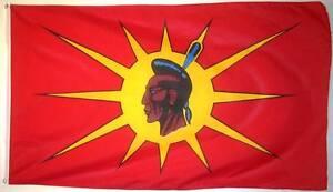 MOHAWK/OKA NATIVE 3ft x 5ft BANNER/FLAG HIGH QUALITY 100% POLYESTER