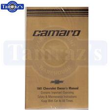 1981 Camaro Owners Manual New 81