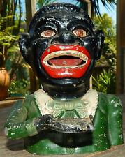 "Rare GREEN Jacket ""GREEDY Black BOY"" NEW ZEALAND Made Mechanical BANK"