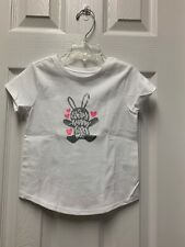 Nwot: Toddler Girls White Graphic Tshirt Size 3T  #125