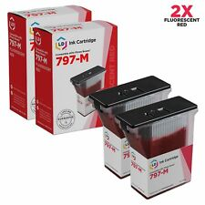 LD Compatible Pitney Bowes 797-M Fluorescent Red Ink Cartridges 2-Pack for K7M0