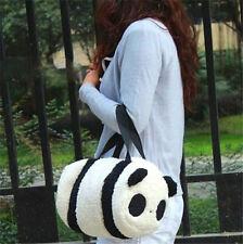 FD4153 Large Cute Soft Plush Panda Handbag Travel Storage Shoulder Zipper Bag ☆