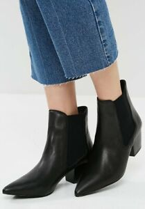 Bnib Sol Sana Black Leather Ella Ankle Chelsea Boots 37