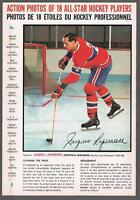 1966-67 General Mills Hockey Action Photo Full Back Box Jacques Laperriere