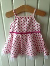 Baby Girl's Clothes Newborn - Cute Spotted Nett Trim Summer/Party Dress