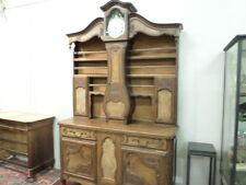 French Antique Bressan Vaisselier Grand-Father Clock Louis XV 1800s