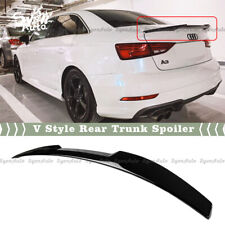 FITS 14-2020 AUDI A3 A3 S3 RS3 SEDAN GLOSS BLACK V STYLE REAR TRUNK SPOILER WING