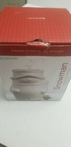 SpaRoom Christmas Snowman Holiday Essential Oil Diffuser Powered by USB Cord NEW