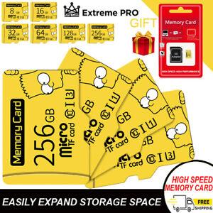 Original Micro SD TF Memory Card 8GB to 256GB Class 10 with Adapter Phone Camera